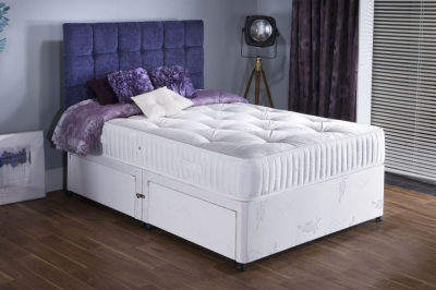 Vogue Summer and Winter Platinum 1500 Pocket Springs Fabric Divan Bed