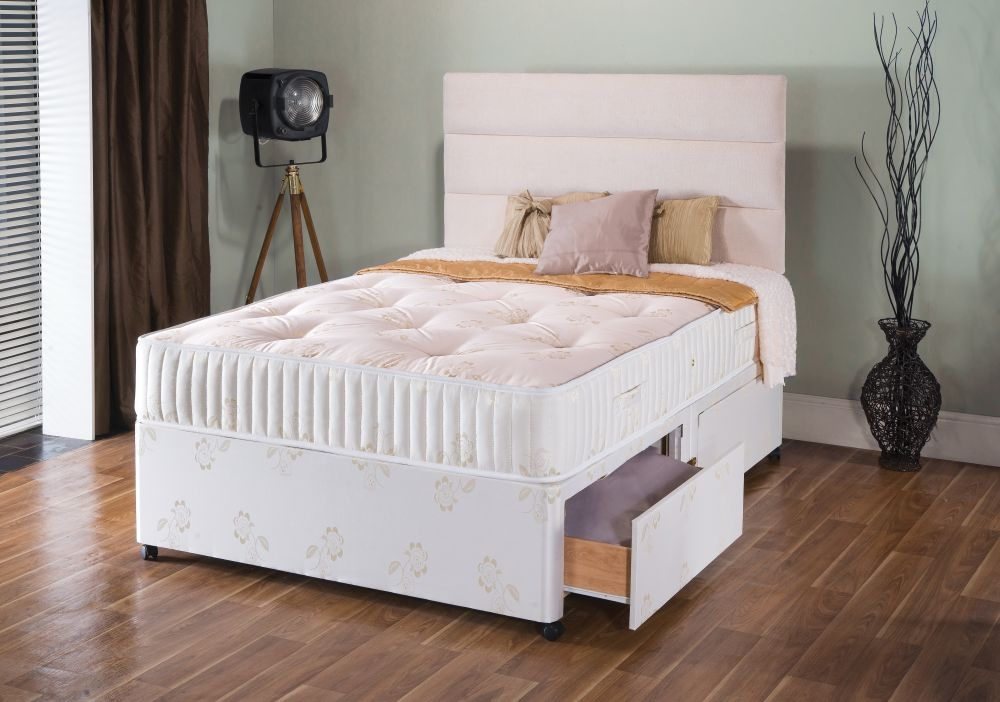 Buy vogue summer and winter gold 1000 pocket springs for Divan bed height