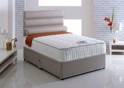 Vogue Talalay Latex Reef Star 1500 Pocket Spring Fabric Divan Bed with Natural Touch
