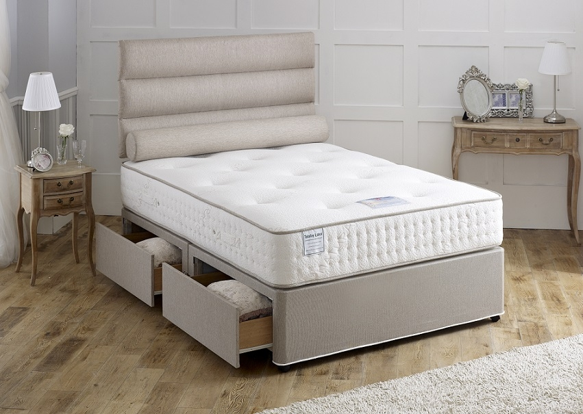 Vogue Talalay Earl Latex 1000 Pocket Spring Platform Top Divan Bed