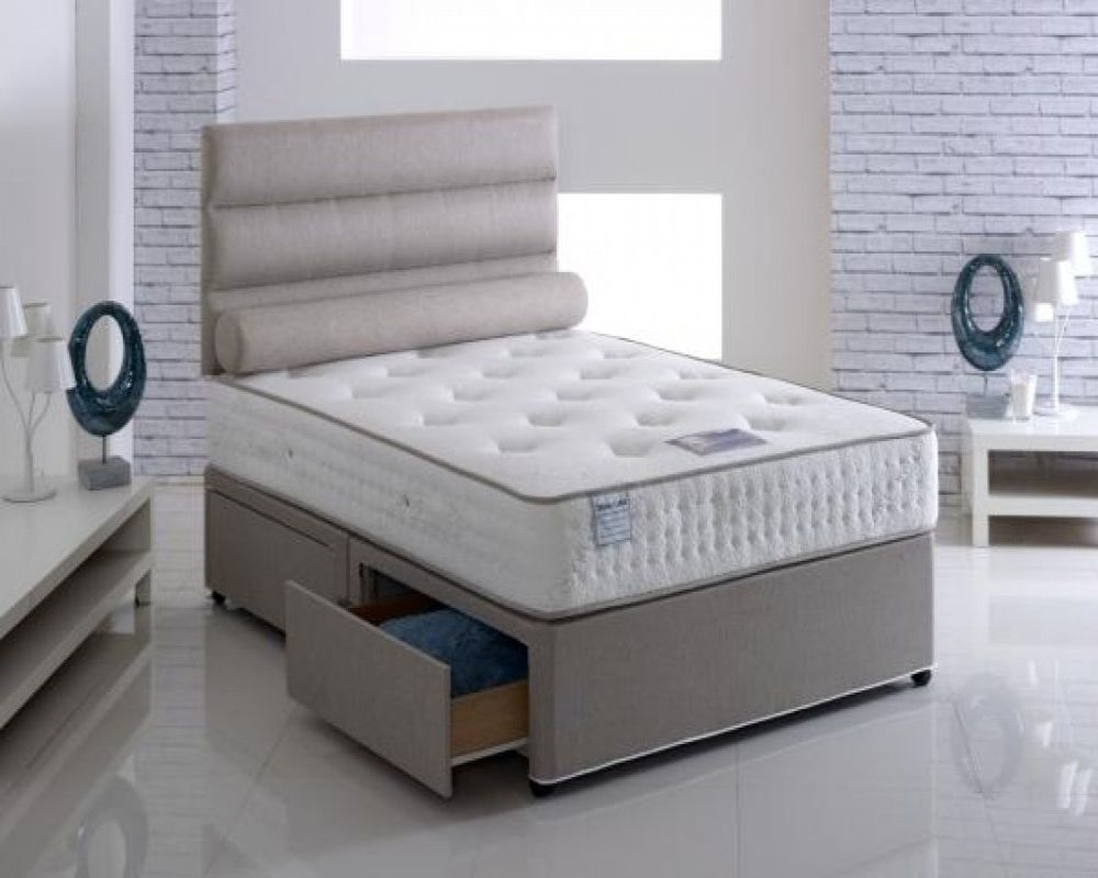 Vogue Talalay Latex Paedic Pocket Spring Platform Top Divan Bed