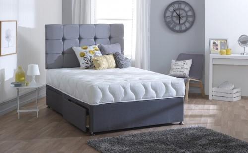Vogue Touch Helix Rapture Encapsulated Fabric Divan Bed