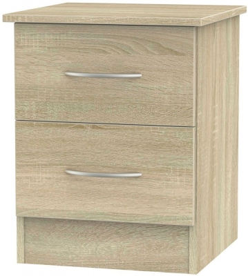 Avon Bardolino Bedside Cabinet - 2 Drawer Locker