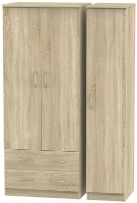 Avon Bardolino Triple Wardrobe - 2 Drawer