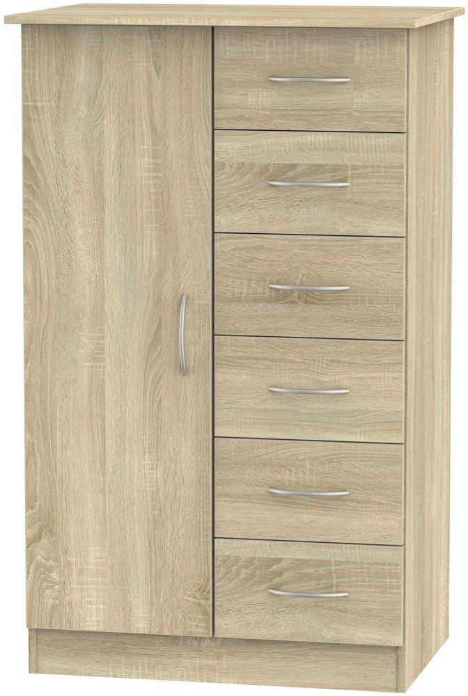 Avon Bardolino 1 Door 6 Drawer Children Wardrobe
