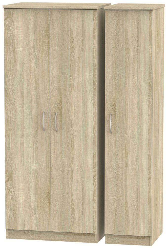 Avon Bardolino 3 Door Plain Triple Wardrobe