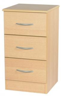 Avon Beech Bedside Cabinet - 3 Drawer