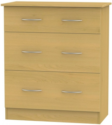 Avon Beech Chest of Drawer - 3 Drawer Deep