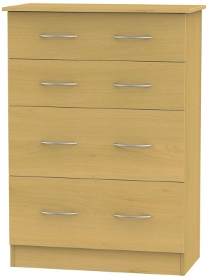 Avon Beech Chest of Drawer - 4 Drawer Deep