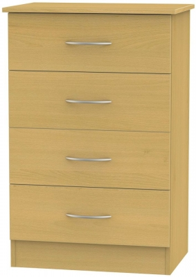 Avon Beech Chest of Drawer - 4 Drawer Midi