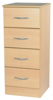 Avon Beech Chest of Drawer - 4 Drawer Narrow