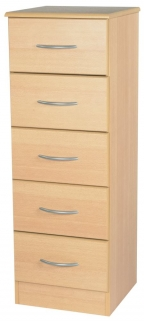Avon Beech Chest of Drawer - 5 Drawer Narrow