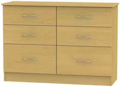 Avon Beech Chest of Drawer - 6 Drawer Midi