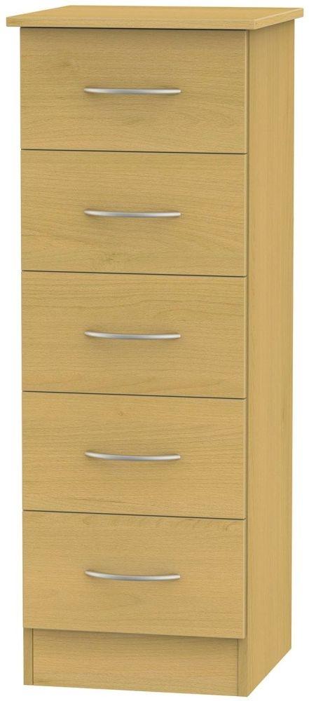 Avon Beech Chest of Drawer - 5 Drawer Locker