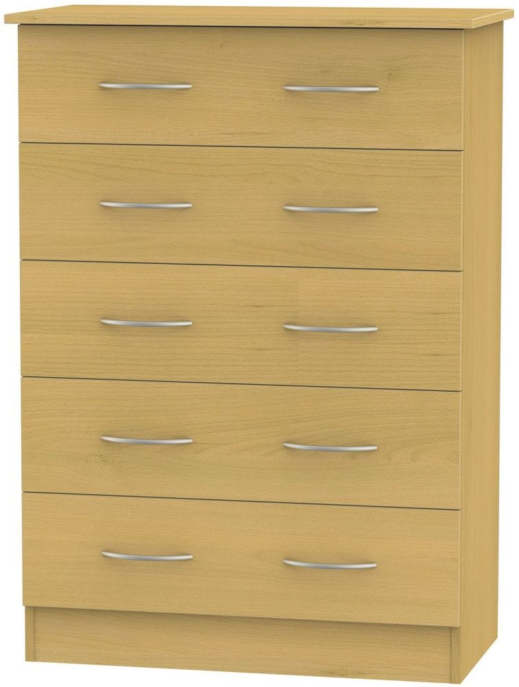 Avon Beech Chest of Drawer - 5 Drawer