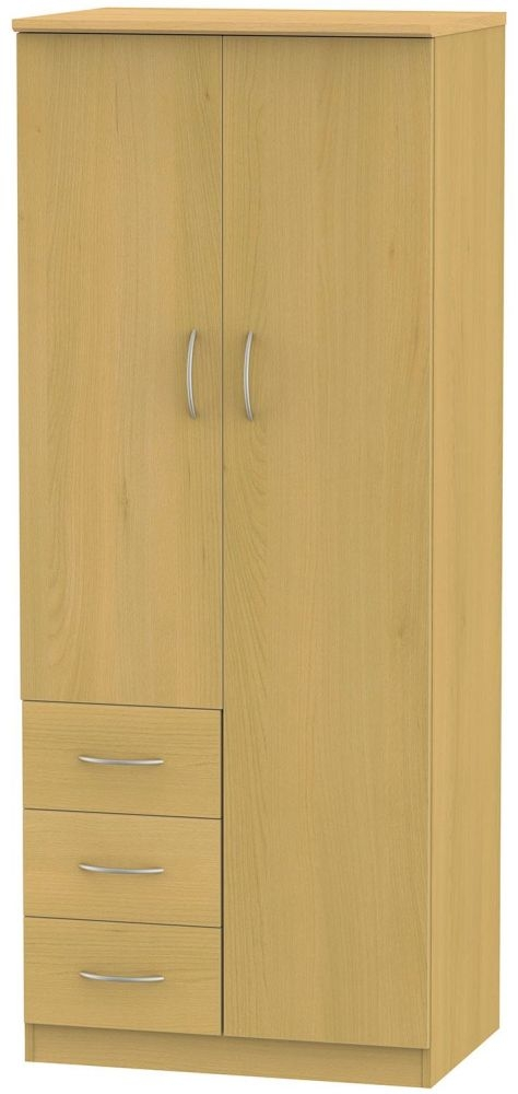 Avon Beech Combination Wardrobe - 2ft 6in