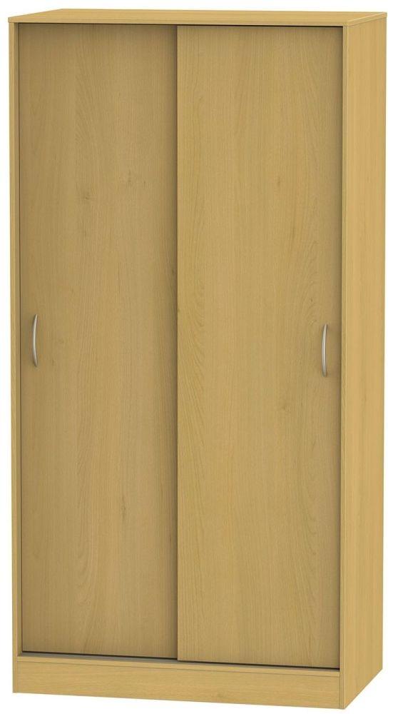 Avon Beech Sliding Wardrobe - Wide