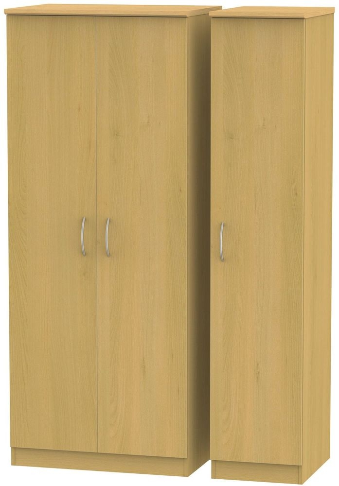 Avon Beech Triple Plain Wardrobe