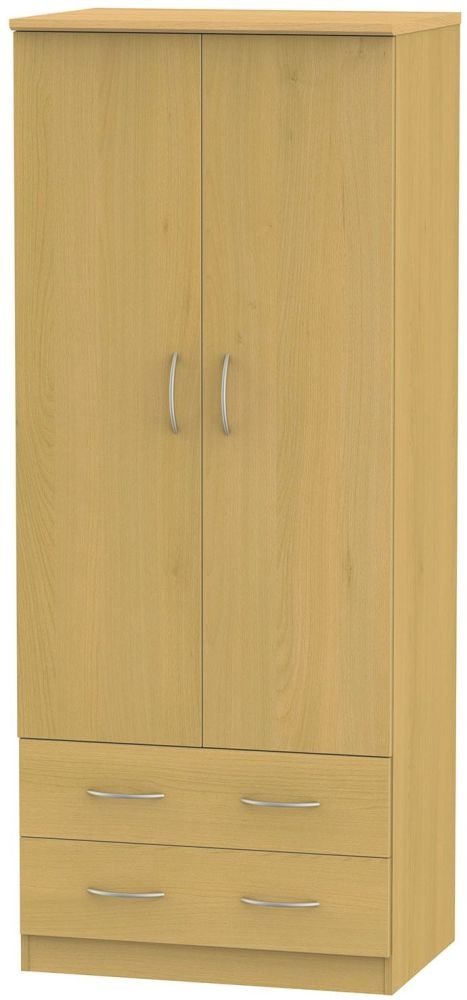 Avon Beech Wardrobe - 2ft 6in 2 Drawer