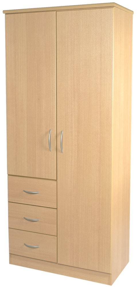 Avon Beech Wardrobe - 2ft 6in Combination