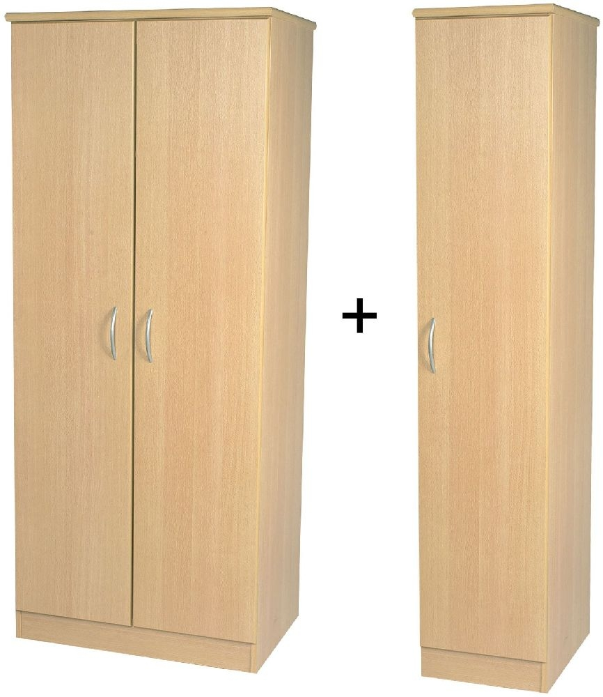Avon Beech Wardrobe - Triple Plain