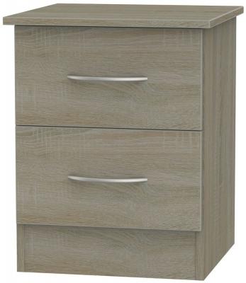 Avon Darkolino Bedside Cabinet - 2 Drawer Locker