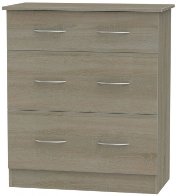 Avon Darkolino Chest of Drawer - 3 Drawer Deep