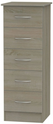 Avon Darkolino Chest of Drawer - 5 Drawer Locker