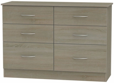 Avon Darkolino 6 Drawer Midi Chest
