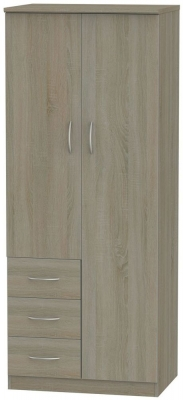 Avon Darkolino 2 Door 3 Drawer Wardrobe