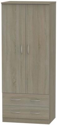Avon Darkolino Wardrobe - 2ft 6in 2 Drawer