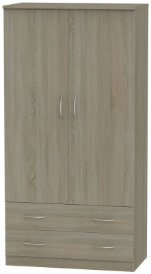 Avon Darkolino 2 Door 2 Drawer 3ft Wardrobe