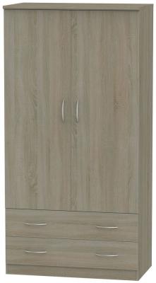 Avon Darkolino Wardrobe - 3ft 2 Drawer