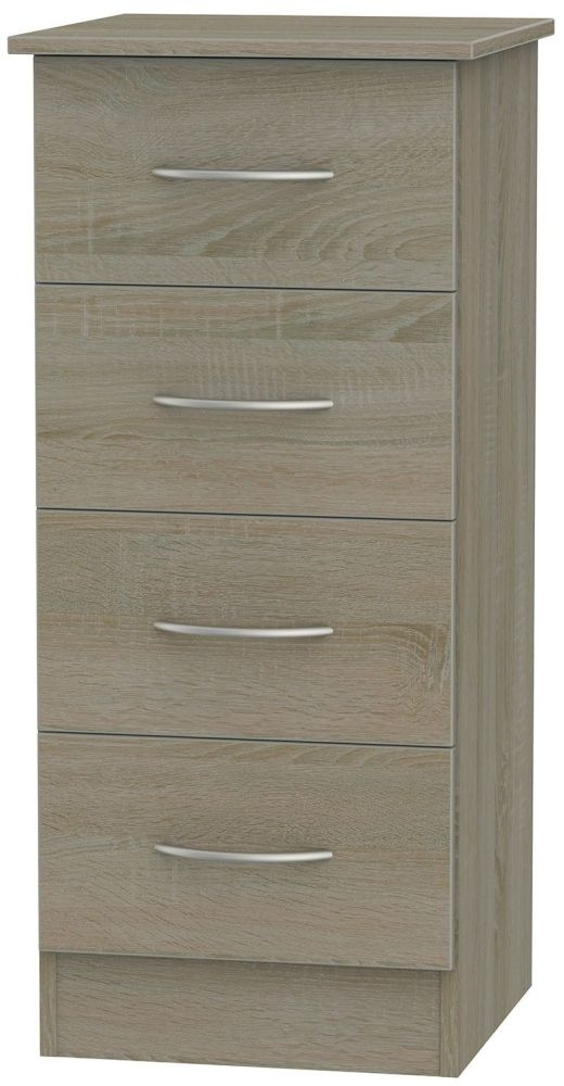 Avon Darkolino Chest of Drawer - 4 Drawer Locker