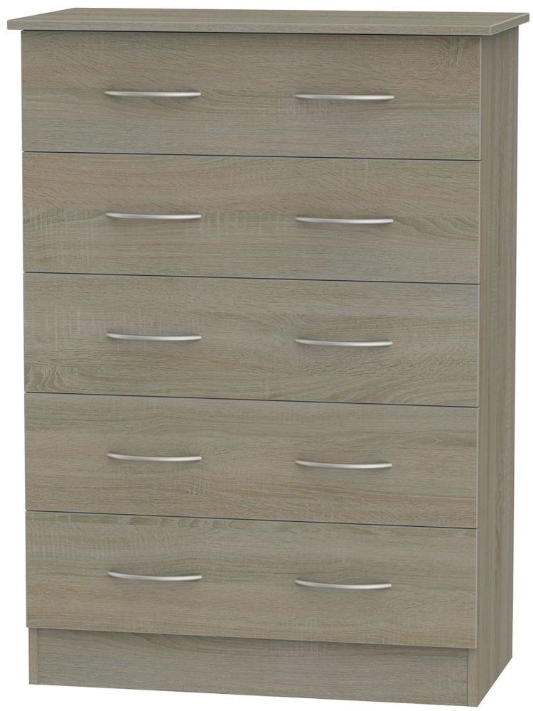 Avon Darkolino Chest of Drawer - 5 Drawer