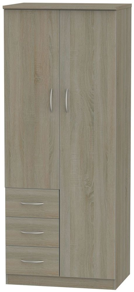 Avon Darkolino 2 Door 3 Drawer Combination Wardrobe