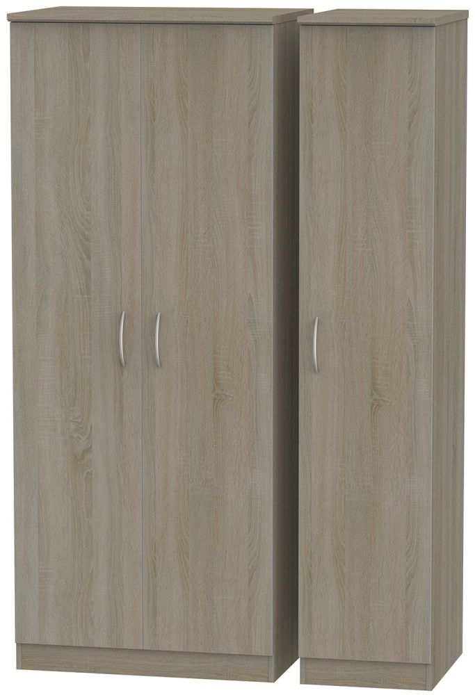 Avon Darkolino 3 Door Plain Triple Wardrobe