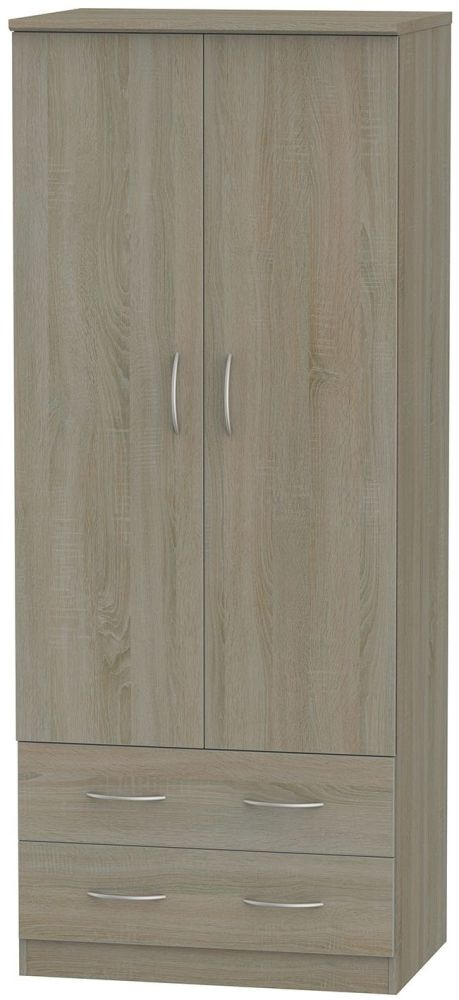 Avon Darkolino Wardrobe - 2ft 6in 2 Drawer