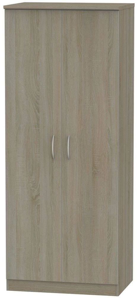 Avon Darkolino 2 Door Plain Wardrobe