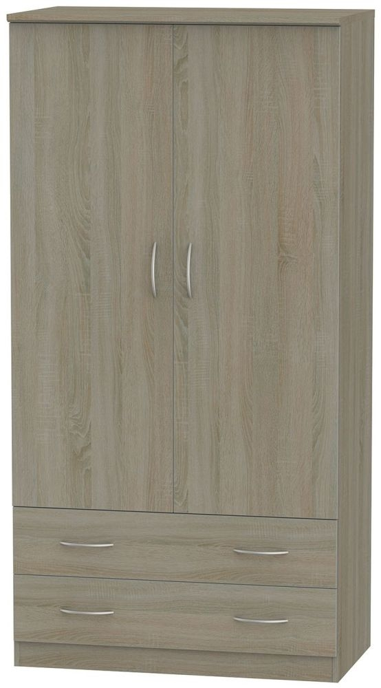 Avon Darkolino 2 Door 2 Drawer Double Wardrobe