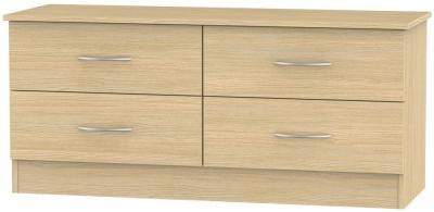 Avon Light Oak Bed Box - 4 Drawer