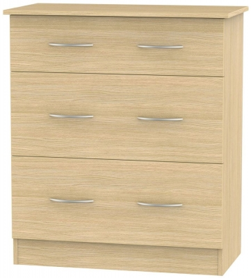 Avon Light Oak Chest of Drawer - 3 Drawer Deep
