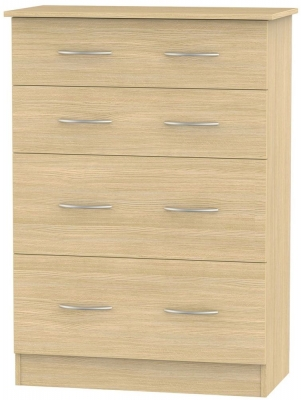 Avon Light Oak Chest of Drawer - 4 Drawer Deep