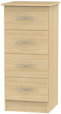 Avon Light Oak Chest of Drawer - 4 Drawer Locker
