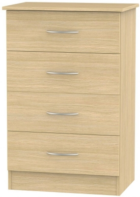 Avon Light Oak Chest of Drawer - 4 Drawer Midi