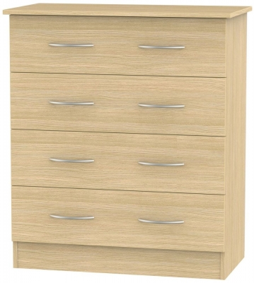 Avon Light Oak Chest of Drawer - 4 Drawer