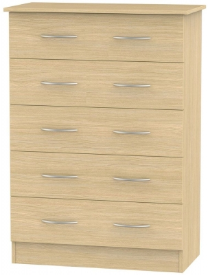 Avon Light Oak Chest of Drawer - 5 Drawer