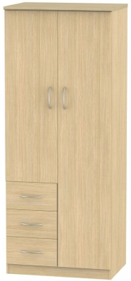Avon Light Oak Combination Wardrobe - 2ft 6in
