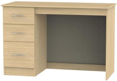 Avon Light Oak Desk - 3 Drawer