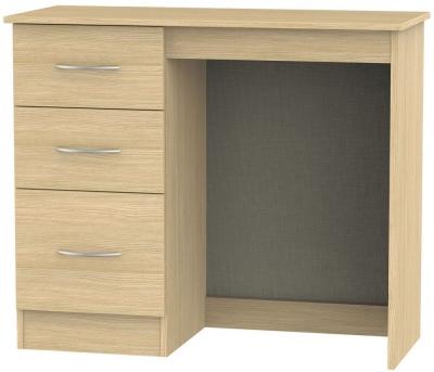 Avon Oak Single Pedestal Dressing Table